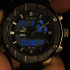 OTAGE Sports Waterproof Dual Time Display Wrist Watch w/ Alarm / Stopwatch - Black (1 x SR626)