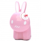 Touch Control Cute Rabbit Style Energy-Saving 12-LED White Light Lamp -Pink
