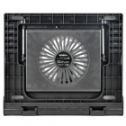 Folding USB Powered 5-Mode Height 14cm Fan Cooling Pad for Laptop - Black