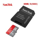 SanDisk CLASS 10 Micro SDHC Card with SD Card Adapter (16GB)