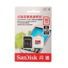 Genuine SanDisk CLASS 10 Micro SDHC Card with SD Card Adapter (16GB)