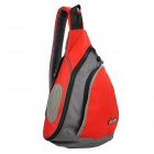 Stylish Detachable Music Speaker Sling Backpack Bag - Red + Grey (4 x AA)