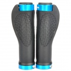Anti-Slip Cycling Grips Bicycle Bar End Handlebar - Blue (Pair)