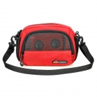 Stylish Casual Detachable Music Speaker One Shoulder Bag - Red + Black (4 x AA)