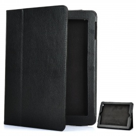Stylish Protective Leather Case for The New Ipad - Black