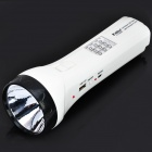 100-Lumen 2-Mode 10-LED White Light Flashlight W/ USB / TF / FM (1 x 1200mAh Lead-acid Battery)