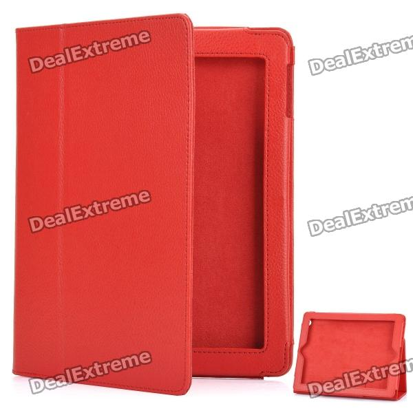 Stylish Protective Leather Case for The New Ipad - Red скатерти и салфетки santalino скатерть майолика 140х180 см