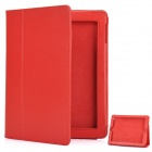 Stylish Protective Leather Case for The New iPad - Red