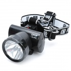 Rechargeable 2-Mode 1W LED White Light Head Lamp - Black (1 x 500mAh Storage Battery)