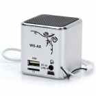 "0.8"" LED MP3 Player Speaker w/ USB / 3.5mm Audio / TF - Silver"