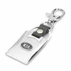 Zinc Alloy + PU Leather Keychain with Car Logo - Kia