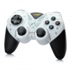 2.4GHz Dual-Shock Wireless Game Joypad Controller w/ USB Receiver for PC - White + Black (4 x AAA)