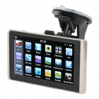 "5"" Resistive Screen Win CE 6.0 GPS Navigator w/ FM / SD / 4GB / Brazil Map - Black + Champagne"