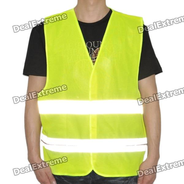 Construction Reflective Vest Safety Clothing W/ 9-LED Red Light - Yellow (Size XXL / 2 x CR2032) от DX.com INT