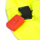 Construction Reflective Vest Safety Clothing W/ 9-LED Red Light - Yellow (Size XXL / 2 x CR2032)