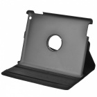 Protective 360 Degree Rotation Holder Leather Case for the New iPad - Black