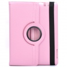 Protective 360 Degree Rotation Holder Leather Case for the New Ipad - Pink