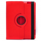 Protective 360 Degree Rotation Holder Leather Case for the New Ipad - Red