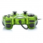 Dual Shock USB 2.0 Wired PC Game Joypad Controller - Green (Pair)