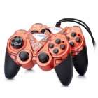 Dual Shock USB 2.0 Wired PC Game Joypad Controller - Red (Pair)