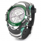 OTAGE Sports Waterproof Dual Time Display Wrist Watch w/ Alarm / Stopwatch - Green (1 x SR626)