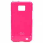 Designer's Protective Case w/ Screen Protector & Cleaning Cloth for Samsung i9100 - Deep Pink