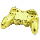 Dual Shock 2.4GHz Wireless PC Game Joypad Controller - Golden (3 x AAA)