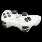 Dual Shock 2.4GHz Wireless PC Game Joypad Controller - White (3 x AAA)