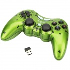 Dual Shock 2.4GHz Wireless PC Game Joypad Controller - Green (3 x AAA)
