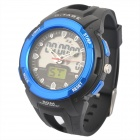 OTAGE Sports Waterproof Dual Time Display Wrist Watch w/ Alarm / Stopwatch - Blue (1 x SR626)