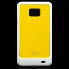 Designer's Protective Case w/ Screen Protector & Cleaning Cloth for Samsung i9100 - Yellow + White