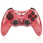 Dual Shock 2.4GHz Wireless PC Game Joypad Controller - Red (3 x AAA)