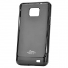 Designer's Protective Case w/ Screen Protector & Cleaning Cloth for Samsung i9100 - Black