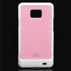 Designer's Protective Case w/ Screen Protector & Cleaning Cloth for Samsung i9100 - Pink + White