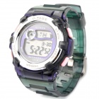 Otage Wasserdichte Digital-Armbanduhr w / Wecker / Stoppuhr - Purple + Green (1 x SR626)