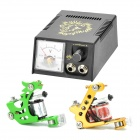 Professional 2-Gun Tattoo Machines Complete Kit Set