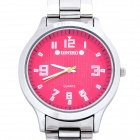 Fashion Steel Red Dial Quartz Wrist Watch - Silver (1 x LR626)