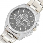 Fashion Steel Quartz Wrist Watch - Silver (1 x LR626)
