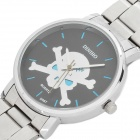 Fashion Steel Quartz Wrist Watch with Skull - Silver (1 x LR626)