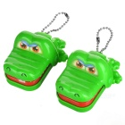 Mini Crocodile Dentist Mechanical Toy Keychains - Green (2PCS)