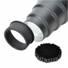 SN-07 Conical Snoot with Honeycomb for Studio Light - Black + Silver
