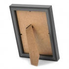 "Stylish Wooden Dual Layer Photo Frame for 7"" / 5"" Photo - Black"