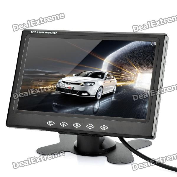 "7"" TFT Color LCD Dual-Input Car Monitor w/ Mount / Remote Controller"