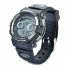 Sports Diving Wrist Watch w/ EL Backlit/Week/Stopwatch/Alarm Clock - Black + Grey (1 x CR2016)