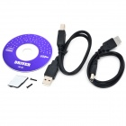USB 2.0 External 12.7mm IDE unidad de disco óptico Set - Negro