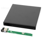 USB 2.0 12.7mm External SATA Optical Drive Case Set - Negro