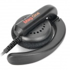 Original Motorola Walkie Talkie PMLN4443A Ear Hook Headset w / micrófono - Negro (2,5 / 3,5 mm-Plug)