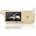 "Car Sun Visor 7"" LCD DVD Media Player with Remote Controller / SD / USB / AV - Coyote Tan"