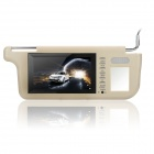 "Car Sun Visor 7"" LCD DVD Player with Remote Controller - Coyote Tan"