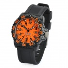 Designer's Waterproof Wrist Watch - Orange